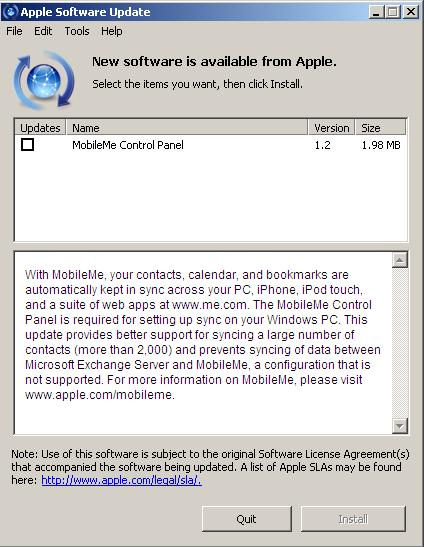 MobileMe Control Panel For Windows Gets An Update That Is