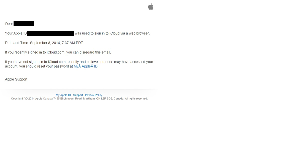 Apple Now Sending E-mails To Alert You To iCloud Activity | The IT Nerd