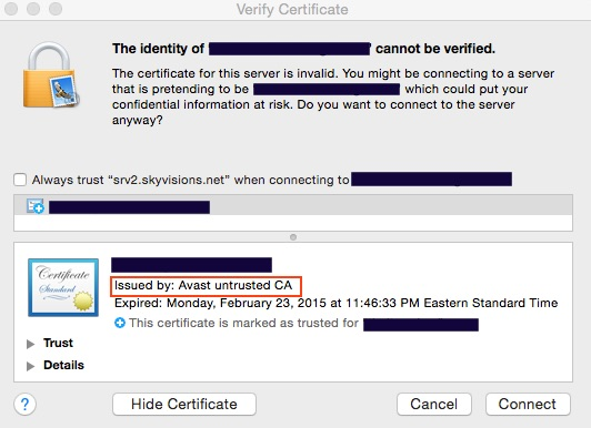 """Avast Anti-Virus For Mac Uses """"Man In The Middle"""" Scheme To """"Protect ..."""
