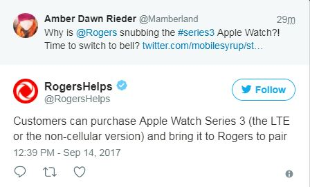 302f56ae8 A Plot Twist On The Rogers Apple Watch Series 3 Story  UPDATED ...