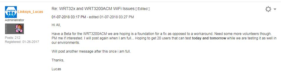An Update To The Linksys WRT32X And WRT3200ACM Firmware