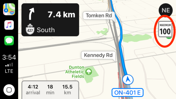 Speed Limit In Canada Map Apple Maps Speed Limit Notifications Seem To Be Rolling Out In