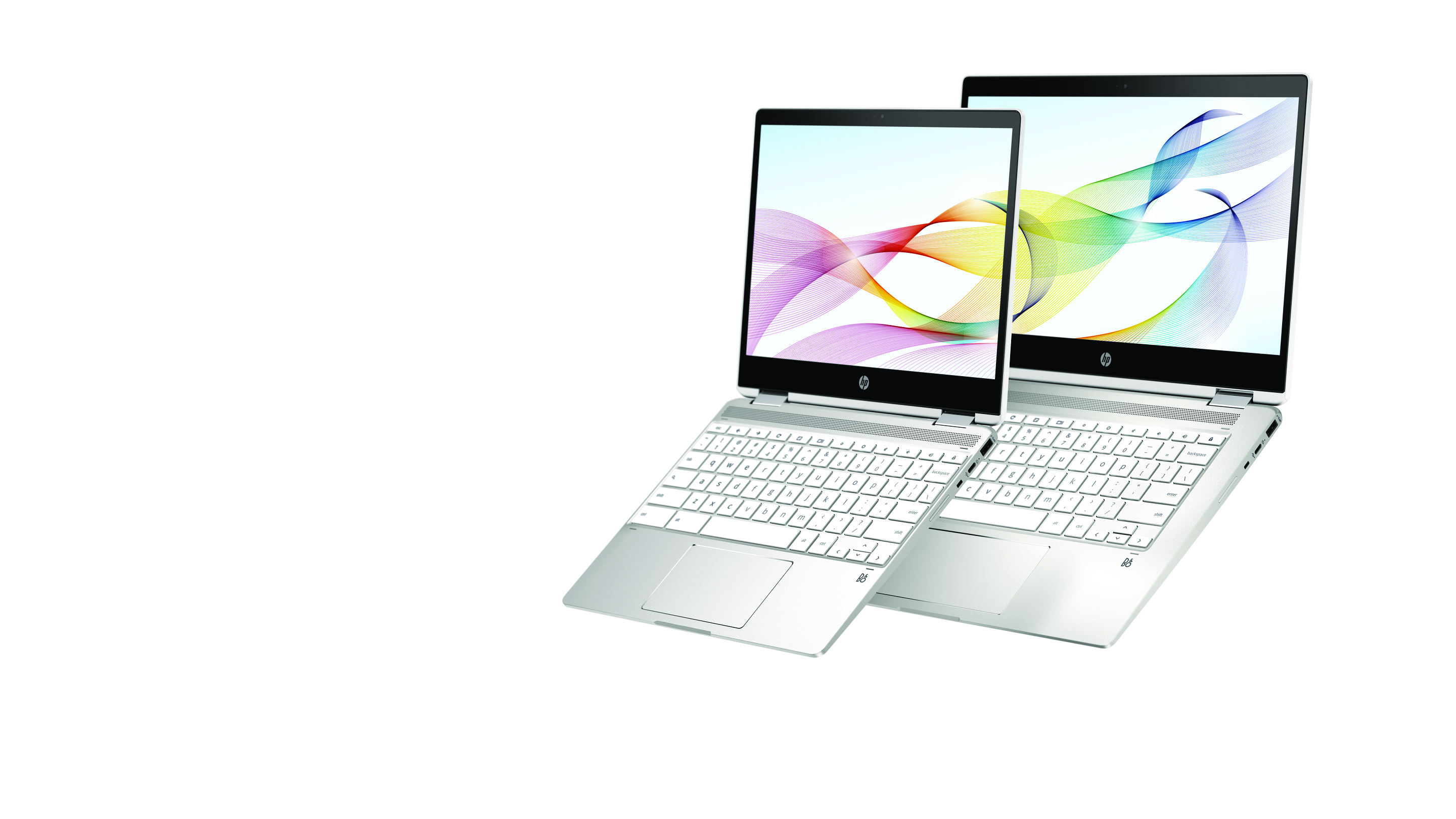 HP Chromebook x360 12b and HP Chromebook x360 14 in natural silver.jpg
